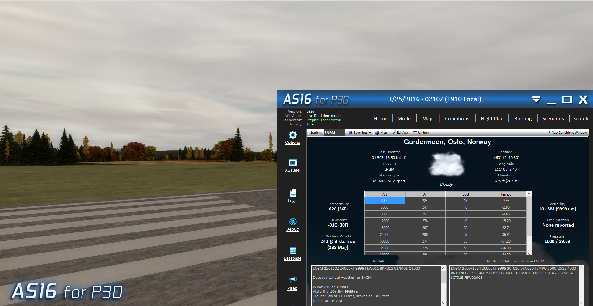 aes compatible with p3d